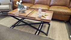 Clever twin tray coffee table design metal cross leg base 120x60cm 48cm high  PerFurEmp Perth Furniture Emporium 336 Great Eastern Highway  Corner ..., 1145461113