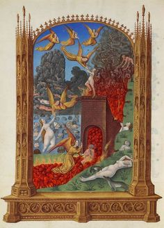 sporadicq:  The Purified souls in Purgatory, miniature from the French Gothic manuscript Les Très Riches Heures du Duc de Berry, 1413.