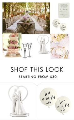 """""""Wedding day"""" by melissabeacall ❤ liked on Polyvore featuring beauty, Kate Spade and Waterford"""