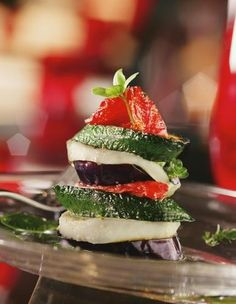 A gourmet dish from the highly regarded kitchen of L'Atlier Joël Robuchon in Las Vegas