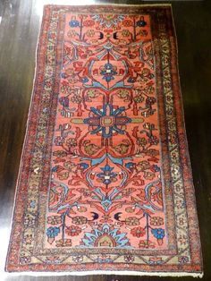 Vintage Persian Rug - Oriental Carpet - Persian Rug -  Wool Kilim - Large Area Rug. $995.00, via Etsy.