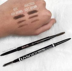 Almay Brow Defining Pencil in Brunette on the left and Anastasia ...