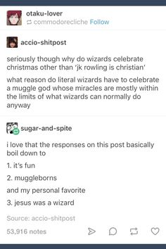 All true facts (on that note though, I'd love to see headcanons of kids of other religions at Hogwarts and what life's like for them. Harry Potter Puns, Harry Potter Drawings, Harry Potter Marauders, Harry Potter Anime, Harry Potter Love, Harry Potter Universal, No Muggles, Film Serie, True Facts