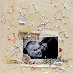 hexagon love.  By Ursula Schneider  http://underscarletbirdswing.blogspot.com
