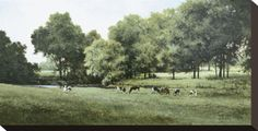 Grazing Stretched Canvas Print by Ray Hendershot at Art.com