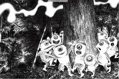 Japan's Folklore Chronicler, Shigeru Mizuki Pinocchio, Folklore Japonais, Tinkerbell, Japanese Monster, Manga Artist, Weird Creatures, True Art, Illustration Sketches, Tumblr