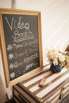 Have A Fun Video Booth At Your Wedding