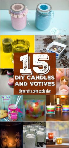 15+Decorative+And+Easy+Candles+And+Votives+You+Can+DIY+For+Under+$1+{Easy+projects+with+tutorial+links}+via+@vanessacrafting