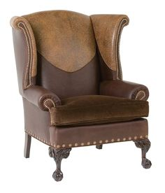 Classic Leather Montgomery Wing Chair