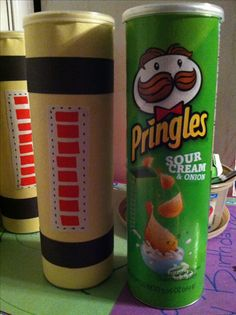 Pringles can made into a scream canisters! Monsters inc birthday party prizes for the games!