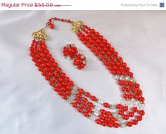 NEW YEAR SALE Vintage 1950s Cherry Red Aurora by MemawsTopDrawer