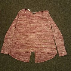 Long Sleeve Top Crisscross Back Long sleeve top with crisscross back. This top would look so cute with a pair of leggings. Ambiance Sweaters