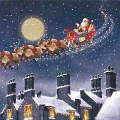 Christmas Scenery, Old Time Christmas, Merry Little Christmas, Vintage Christmas Cards, Christmas Pictures, Christmas Art, Beautiful Christmas, Winter Christmas, Winter Scenery