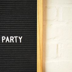 Let's party. Our #letterboard is live on Etsy. More info in our bio. #letters #letterboards