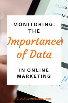 Monitoring - The Importance of Data in Online Marketing Marketing Data, Content Marketing, Internet Marketing, Online Marketing, Social Media Analytics, How To Measure Yourself, Blind, Effort, Monitor