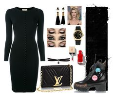 """""""Untitled #2066"""" by kirsimari ❤ liked on Polyvore featuring Louis Vuitton, Murmur, Whiteley, Rolex and Fallon"""