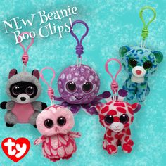 New Beanie Boo Clips are now available in the online Ty Store!