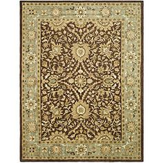 Everyone loves chocolate! @Overstock - Safavieh Handmade Kerman Chocolate/ Gold Wool Rug (7'6 x 9'6) - A combination of chocolate brown with accents of olive green, ivory, and gold, create this elegant wool rug. Hand-crafted with a dense woven thick pile, it is durable and offers protective floor covering while accentuating your home decor.  http://www.overstock.com/Home-Garden/Safavieh-Handmade-Kerman-Chocolate-Gold-Wool-Rug-76-x-96/4780120/product.html?CID=214117 $321.20