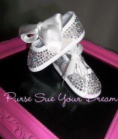 47c159b2022dde Crystal Rhinestone Baby Shoes -- Newborn