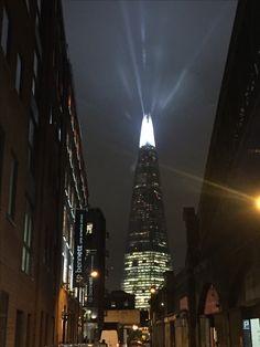 The shard, shining at night, London
