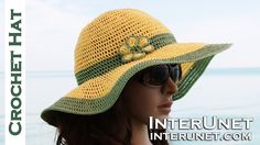How to crochet summer sun protective hat
