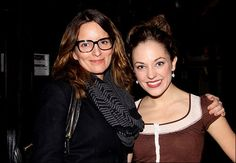 Very cool!! Two of New York's most talented ladies! Tina Fey joined us at Cinderella this weekend. Laura Osnes, Broadway News, Tina Fey, Musicals, Cinderella, Singing, New York, Couple Photos, Couples