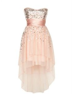 Love this dress cause it short in the front & long in the back. It would be so cute if it was blue tho!!