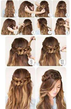 Step by step braided hair tutorials braid hair hair styles, long ha Shaved Side Hairstyles, Long Hairstyles, Fashion Hairstyles, Hairstyles Pictures, Evening Hairstyles, Hairstyles Videos, Simple Hairstyles, Cute Hairstyles For Wedding, Hairstyles For Women