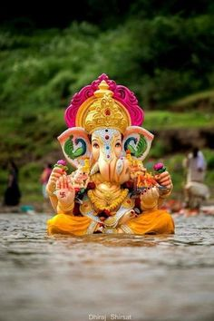 Make this Ganesha Chathurthi 2020 special with rituals and ceremonies. Lord Ganesha is a powerful god that removes Hurdles, grants Wealth, Knowledge & Wisdom. Jai Ganesh, Ganesh Lord, Ganesh Idol, Shree Ganesh, Ganesha Art, Baby Ganesha, Shri Ganesh Images, Ganesha Pictures, Ganesh Bhagwan