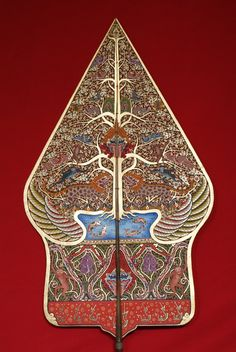 Gunungan, symbolize the world or  the earth on traditional Javanese puppet story (Wayang).