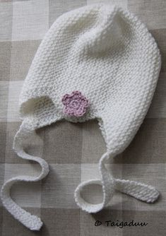 Taigaduu: Vauvan neulottu myssy Baby Knitting Patterns, Free Pattern, Winter Hats, Crochet Hats, Cap, Diy Crafts, Wool, Sewing, Inspiration