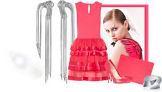 """""""Coral Pink"""" by alyssa23 ❤ liked on Polyvore"""