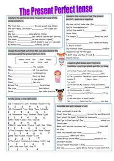 English Vocabulary Words, English Grammar, Teaching English, Learn English, English File, Tenses Exercises, Grammar Exercises, Present Perfect Tense Exercises, Types Of Sentences
