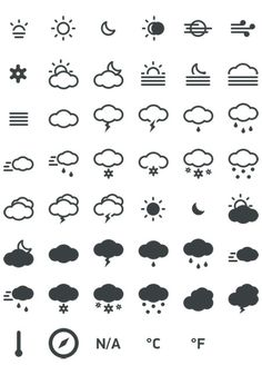 Meteocons - a free set of weather icons in PSD, CHS, EPS, SVG, Desktop font and Web font. Web Design, Tool Design, Flat Design, Icons Web, Flat Icons, Free Icon Fonts, Weather Icons, Photoshop, Design Graphique