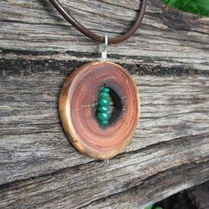Natural jewelry   Chrysoprase & eucalyptus wood by NaturesArtMelbourne,