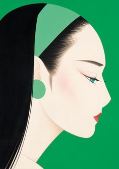 Ichiro Tsuruta - Japanese visual artist, was born in 1954 in the city of Hondo in Kumamoto Prefecture, Ichiro Tsuruta grew up in Kyushu's Amakusa Region, Japan. Art And Illustration, Portrait Illustration, Art Illustrations, Art Asiatique, Kumamoto, Gig Poster, Arte Pop, Japan Art, Japanese Artists