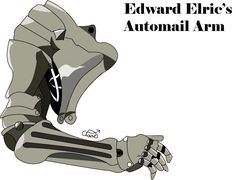 Edward Elric Automail | Automail Arm-Edward Elric by ~tigerlilyquack on deviantART