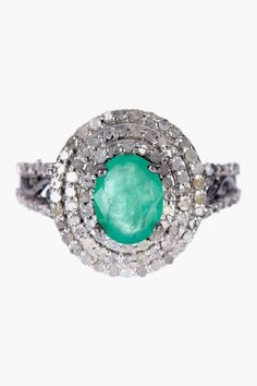 Royal Emerald & Diamond Ring