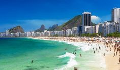 Copacabana in Rio de Janeiro, Brasil - one of the most iconic travel photography shots ever! Copacabana Beach, Lonely Planet, Air France, Lac Titicaca, Visit Rio, Best Travel Apps, Belize Vacations, Station Balnéaire, Best Boutique Hotels