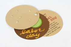 Hamburger invitation. Great for a kids' birthday party being held in your favourite burger joint.