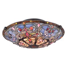 Shop Quoizel  TF1805SVB 2-Light Tiffany Semi-Flush Ceiling Light at ATG Stores. Browse our semi flush ceiling lights, all with free shipping and best price guaranteed.