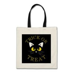 Halloween Black Cat Costume Trick or Treat Tote Bag - cat cats kitten kitty pet love pussy