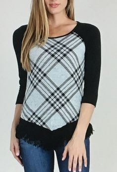 Geometric Print Top with Crochet and Fringe Bottom