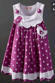 Look at this Powell Craft Purple Bird Polka Dot Dress - Infant, Toddler & Girls on today! Toddler Dress, Toddler Outfits, Baby Dress, Kids Outfits, Infant Toddler, Dot Dress, Toddler Girls, Little Dresses, Little Girl Dresses