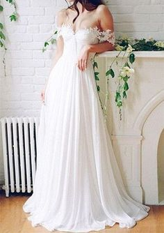 Classy Prom Dresses, Princess Wedding Dresses, White Wedding Dresses, Long Wedding Dresses With Lace Sleeveless Off-the-Shoulder Prom Dresses Long Wite Prom Dresses, Wedding Dresses 2018, Princess Wedding Dresses, White Wedding Dresses, Bridal Dresses, Lace Dresses, Dress Prom, Wedding White, Gown Dress