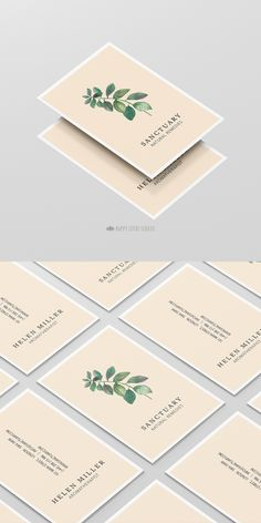 Modern and elegant nature inspired business card