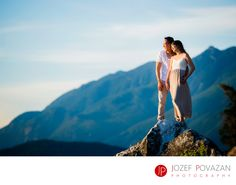 Best Award winning Vancouver wedding photographers Povazan Photography - White Cliff Love, Laughter fun romantic engagement: Being yourself at engagement session is gold. Love, laughter and fun will be your best friend if strong emotions and expressions are what you would like to cherish forever. Daisy and Wilson had a day just like that. Climbing rocks, hanging above sea on cliffs watching orca's playing in&nbsp,the ocean and holding each other are memories you will never forget. Playful…
