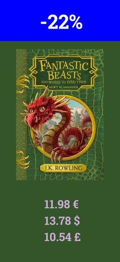Fantastic Beasts   Where to is a great read for the weekend. Books are here to stay. Also a great book deal. Currently 22% off.   J.K. Rowling is the author of the record-breaking, multi-award-winning Harry Potter novels. Loved by fans around the world, the series has sold over 450 million copies, been translated into 79 languages, and made into eight blockbuster films. She has written three companion volumes in aid of charity: Quidditch Through the Ages and Fantastic Beasts and Where to…