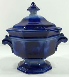 Flow-blue Tureen