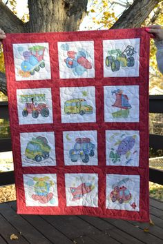 A personal favorite from my Etsy shop https://www.etsy.com/listing/256134226/cross-stitch-baby-quilt-featuring